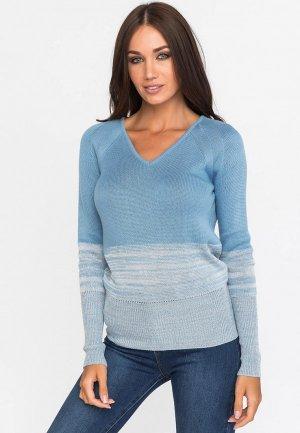 Пуловер Gloss. Цвет: голубой