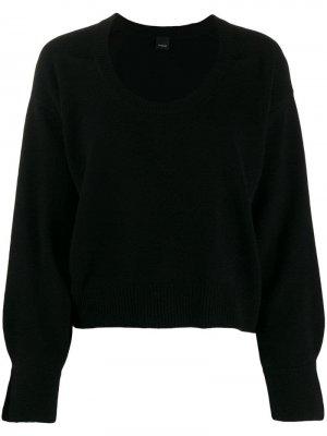 Пуловер с круглым вырезом Pinko. Цвет: черный