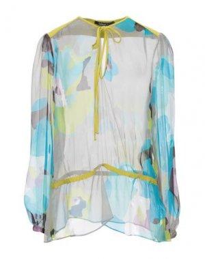 Блузка PIANURASTUDIO. Цвет: светло-серый