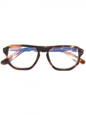 Очки Maio в оправе черепаховой расцветки Lesca. Цвет: коричневый