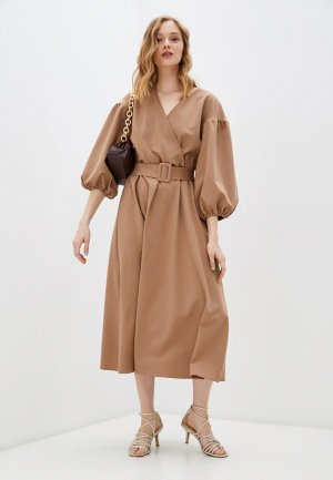 Платье Bezko. Цвет: коричневый
