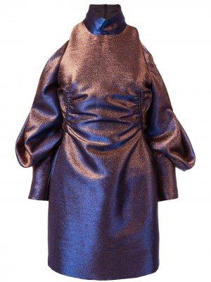 Платье Bella с вырезными деталями CAMILLA AND MARC. Цвет: синий