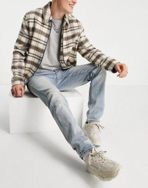 Светлые зауженные джинсы Eddy-Голубой WESC