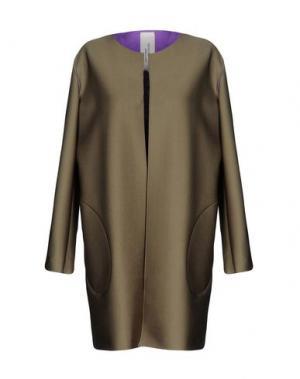 Легкое пальто MANUELA CONTI. Цвет: зеленый-милитари