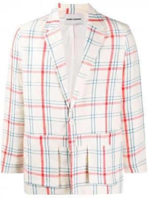 Клетчатый пиджак Kaii HENRIK VIBSKOV. Цвет: нейтральные цвета