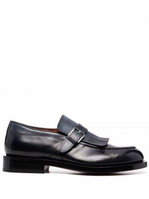 Туфли монки Santoni. Цвет: синий