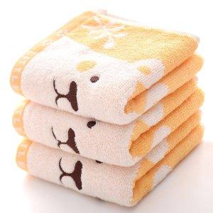 1шт Полотенце вышивкой медведя SHEIN. Цвет: жёлтые
