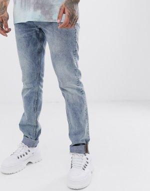 Голубые узкие джинсы Cheap Monday