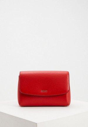 Сумка поясная DKNY PAIGE-BELT BAG-SUTTON. Цвет: красный