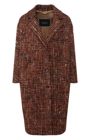 Шерстяное пальто Kiton. Цвет: оранжевый