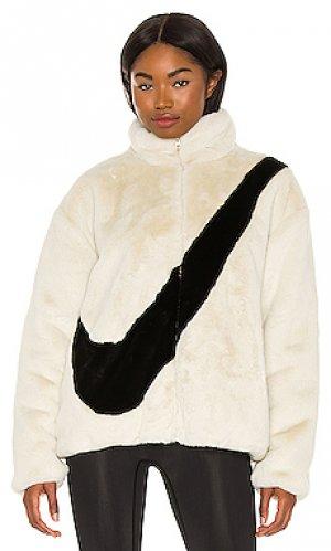 Куртка nsw plush Nike. Цвет: cream,black