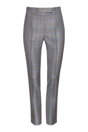 Зауженные базовые брюки в клетку VASSA&Co. Цвет: синий