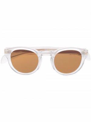 Солнцезащитные очки в круглой оправе Eyewear by David Beckham. Цвет: серый