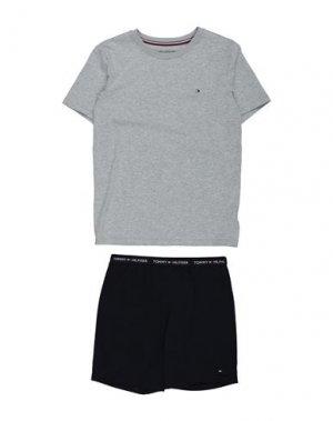 Пижама TOMMY HILFIGER. Цвет: светло-серый