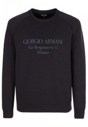 Свитшот GIORGIO ARMANI. Цвет: синий