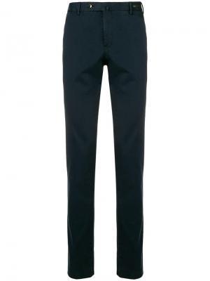 Классические однотонные брюки-чинос Pt01. Цвет: синий