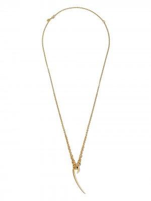 Серебряная цепочка на шею Hook с подвеской Shaun Leane. Цвет: золотистый