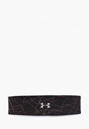 Повязка Under Armour Run Graphic Headband. Цвет: черный