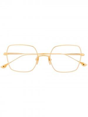 Очки в квадратной оправе Cerebal Dita Eyewear. Цвет: золотистый