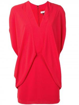 Платье мини с драпировкой Halston Heritage. Цвет: красный