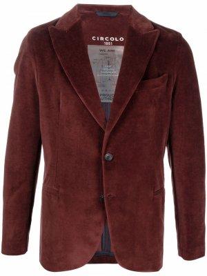 Однобортный пиджак Circolo 1901. Цвет: красный