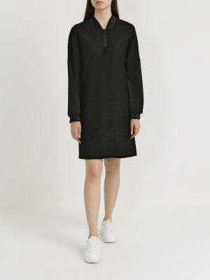 Платье с длинным рукавом Finisterre. Цвет: chernyy