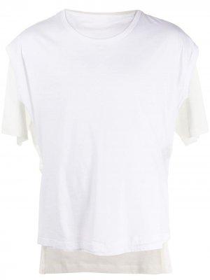 Многослойная футболка Ann Demeulemeester. Цвет: белый