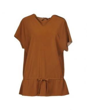 Блузка GIO' MORETTI. Цвет: коричневый