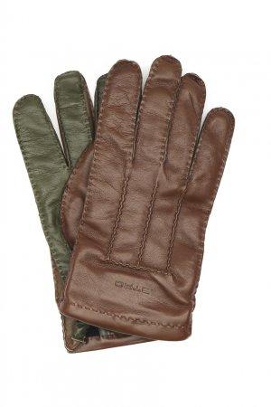 Перчатки из мягкой кожи Etro. Цвет: коричневый