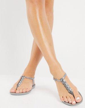 Серебристые сандалии Charm-Серебристый Ipanema
