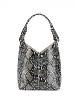 Маленькая сумка Build a Bag с узором змеиной кожи Anya Hindmarch. Цвет: черный