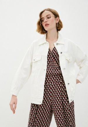 Куртка джинсовая Goldrai. Цвет: белый