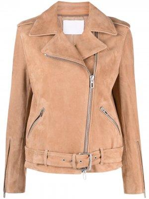 Байкерская куртка Drome. Цвет: коричневый