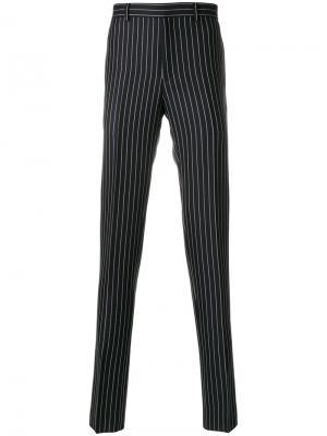 Классические брюки в полоску Givenchy. Цвет: чёрный
