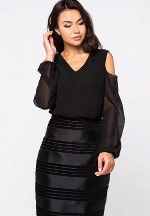 Блуза Eva. Цвет: черный