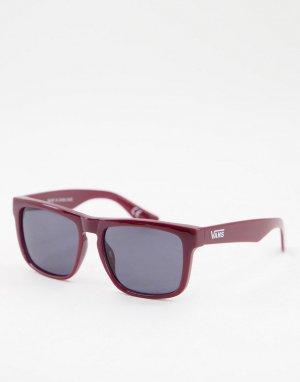 Квадратные солнцезащитные очки в бордовой оправе -Темно-синий Vans