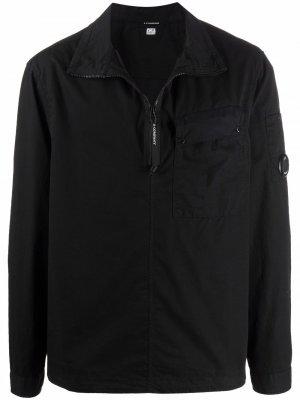 Gabardine quarter-zip shirt C.P. Company. Цвет: черный