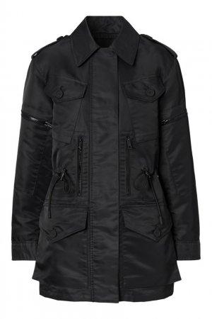 Черная ветровка с накладными карманами Burberry. Цвет: черный