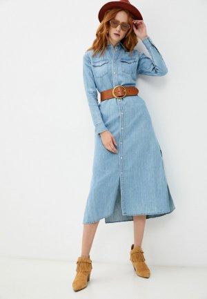 Платье джинсовое Polo Ralph Lauren. Цвет: голубой