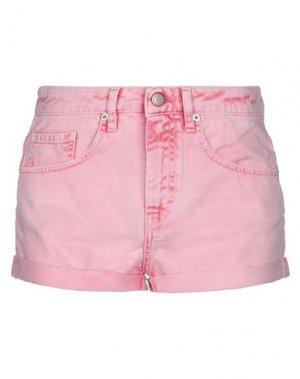 Джинсовые шорты VICOLO. Цвет: розовый