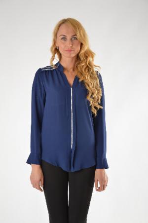 Блуза Extasy. Цвет: темно-синий