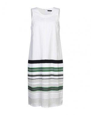 Платье до колена ANTONINO VALENTI. Цвет: белый