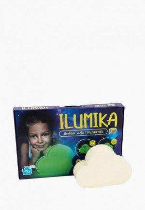 Набор для творчества Рисуй Светом Ночник ILUMIKA Облако. Цвет: зеленый