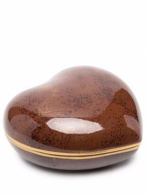 Поднос для мелочей 2000-х годов Christian Dior. Цвет: коричневый