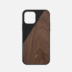 Чехол Clic Wooden iPhone 12 mini Native Union. Цвет: чёрный