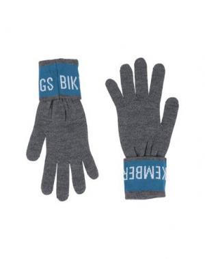 Перчатки BIKKEMBERGS. Цвет: серый