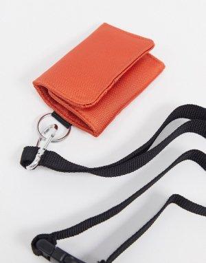 Оранжевая кредитница со съемным ремешком -Красный ASOS DESIGN