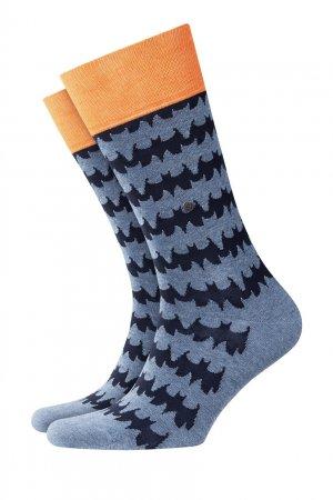 Синие носки Bat Burlington. Цвет: серый