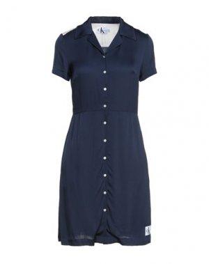 Короткое платье CALVIN KLEIN JEANS. Цвет: темно-синий