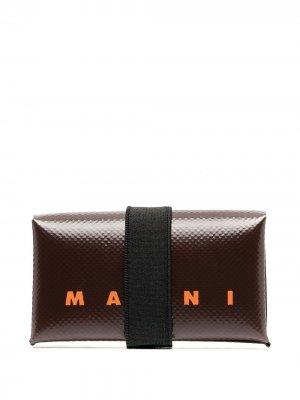 Бумажник с логотипом Marni. Цвет: коричневый